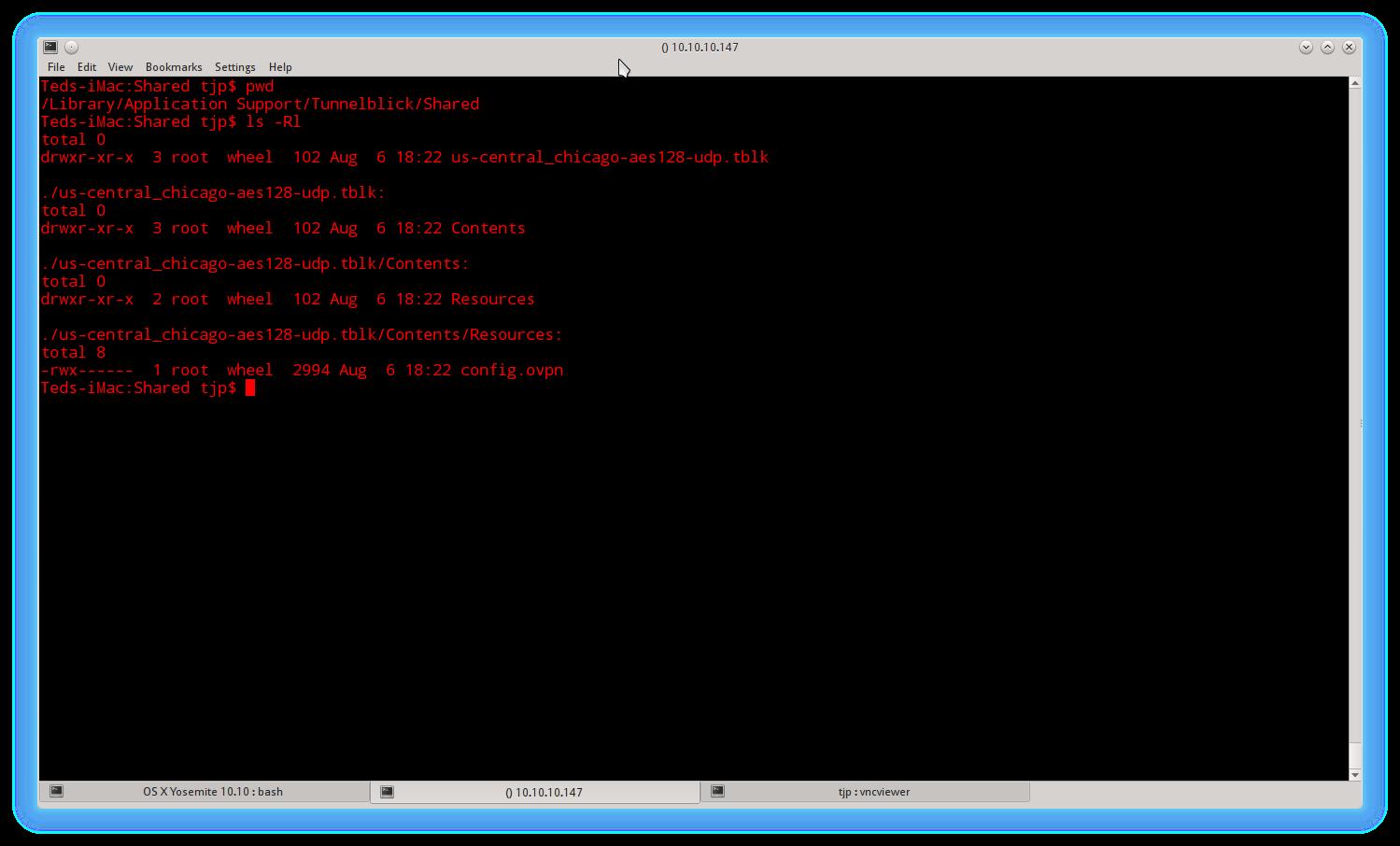 Tunnelblick config directory