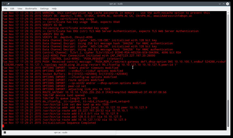 OpenVPN Linux Command Line
