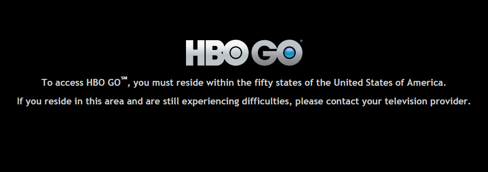 HBO Go geo-restriction