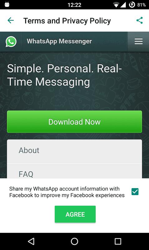 WhatsApp Facebook integration