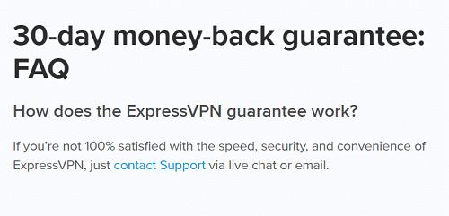 ExpressVPN moneyback