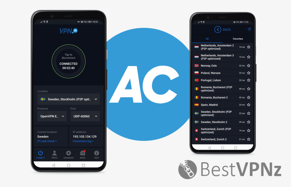 VPN.ac Android